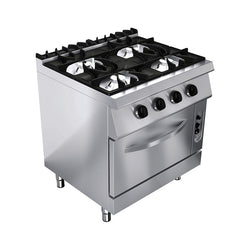 GAS STOVE: 4 BURNERS & GAS OVEN - Culinary Equipment Company