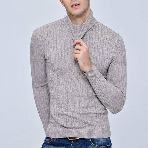 Fashion Casual Plain Winter  High Collar Sweater