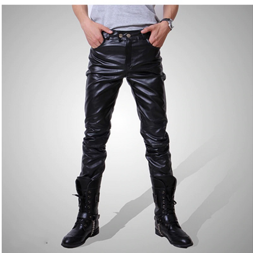 Men's Fashion PU Leather Pants