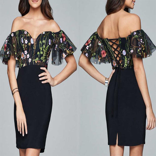 Fashion Sexy Off Shoulder Party Dress