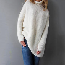 Load image into Gallery viewer, Long Sleeve Large Size Turtleneck Sweater