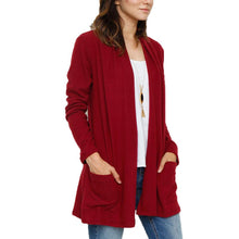 Load image into Gallery viewer, Fashion Pure Color  With Pocket Cardigan