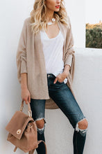 Load image into Gallery viewer, Asymmetric Hem  Plain  Casual  Cardigans