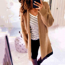 Load image into Gallery viewer, Fashion Solid Color Knit Cardigan