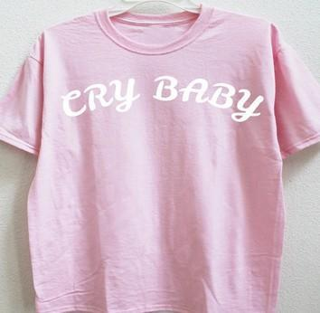 CRY BABY Short Sleeve Round Collar Fashion T-Shirt