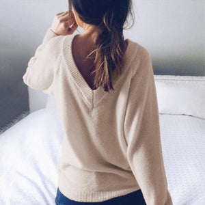 Sexy Solid Color Halter Sweater