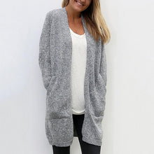 Load image into Gallery viewer, Slant Pocket Knit Cardigan Women Long Loose