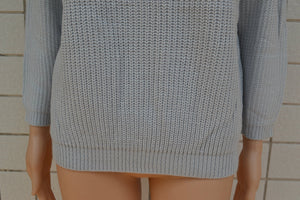 Solid Color Large Size Women's Sweater