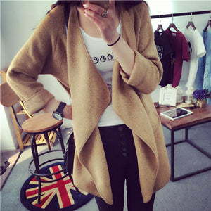Fashion Irregular Large Lapel Cardigan