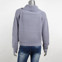 Load image into Gallery viewer, Loose Short High Collar Umbilical Pullover Sweater