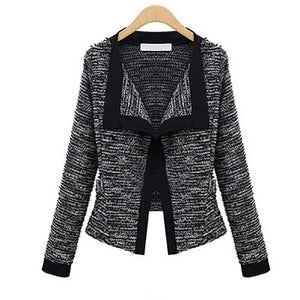 High Quality Linen Long Sleeve Knit Wool Cardigan