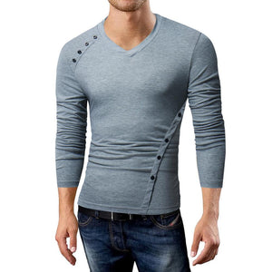Oblique Button Long Sleeve