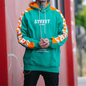 Fashion Youth Loose Letter Print Long Sleeve Hoodie