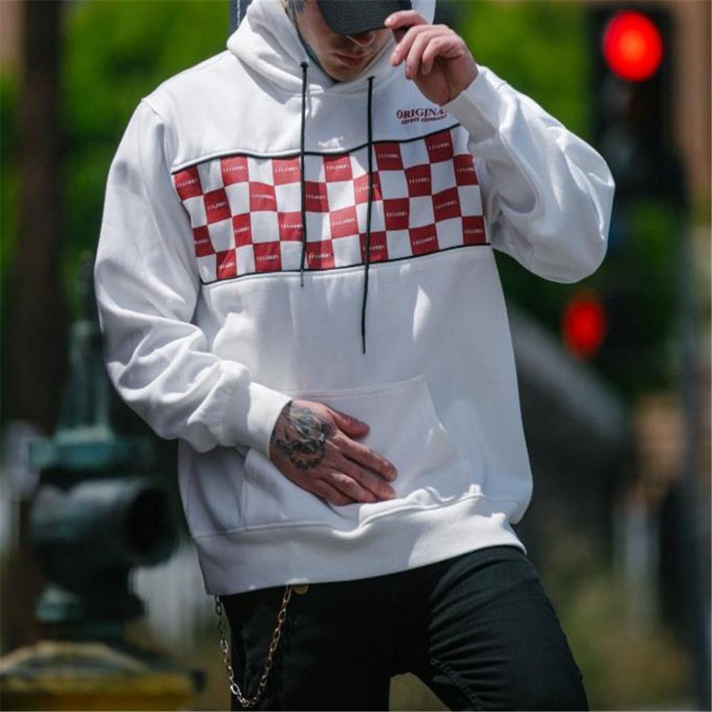 Fashion Youth Loose Plaid Long Sleeve Hoodie