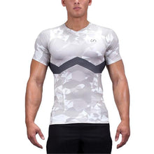 Load image into Gallery viewer, Fashion Camouflage Close-Fitting Round Neck Short Sleeve Top