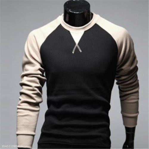 Fashion Youth Slim Color Block Long Sleeve Hoodie
