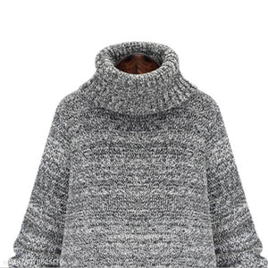 High-Necked Fashion Long Sweater