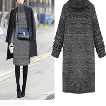 Load image into Gallery viewer, High-Necked Fashion Long Sweater