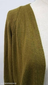 Medium Long Solid Color Large Pocket Knit Cardigan Sweater