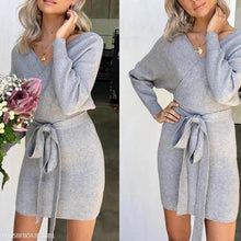 Load image into Gallery viewer, Winter Knitwear Sexy Warm Sweater Dress