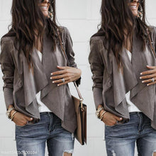 Load image into Gallery viewer, Lapel Solid Color Suede Velvet Mid-Length Casual Women's Jacket
