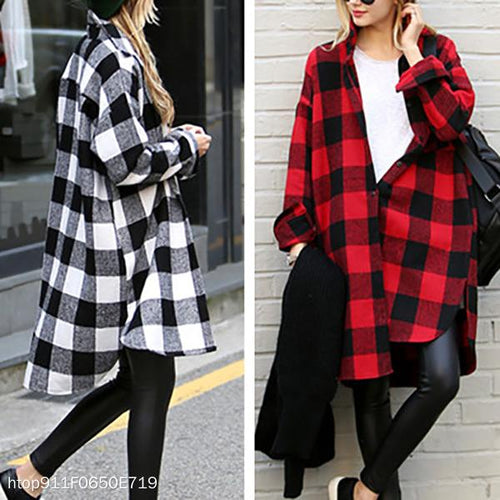 Casual loose cotton large square long sleeve cardigan
