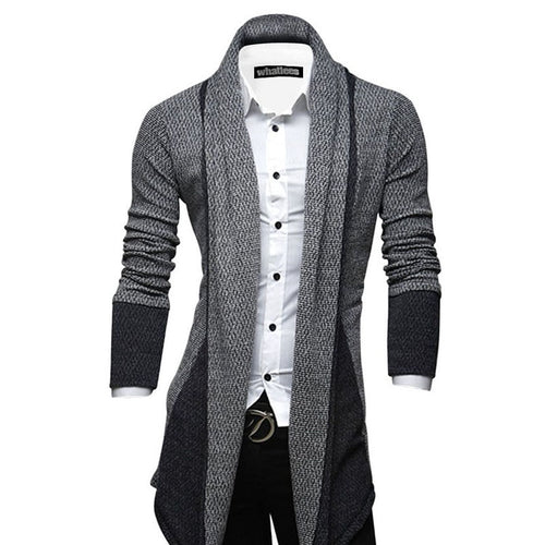 Men's Plain Patchwork Cardigans Sweater