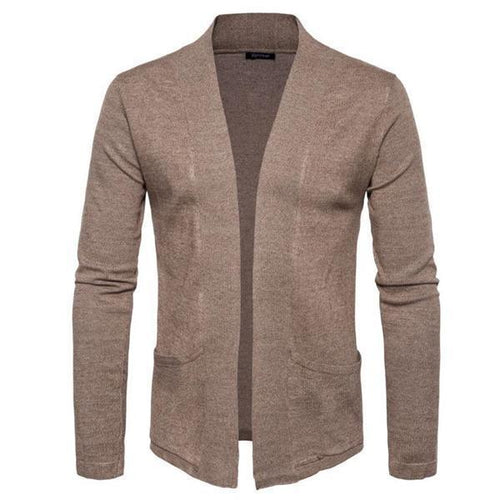 Casual Fashion Sport Loose Plain Long Sleeve Cardigan