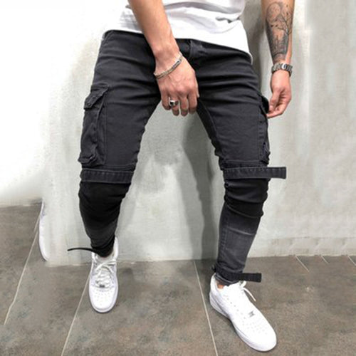 Three-Dimensional Bag Zipper Feet Men's Jeans
