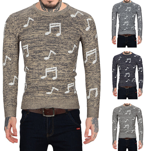 Round Neck Music Sweater