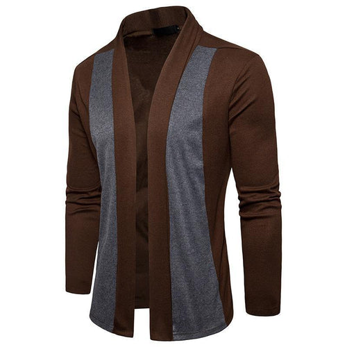 Mens Fashion Split Joint Slim Cloak Coat