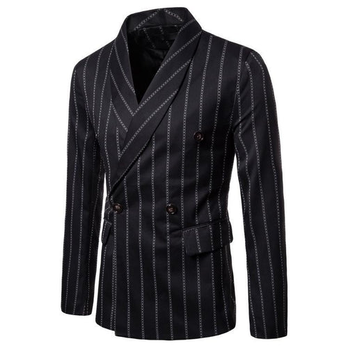 Casual Simple Stripe Packet Slim Suit Coat