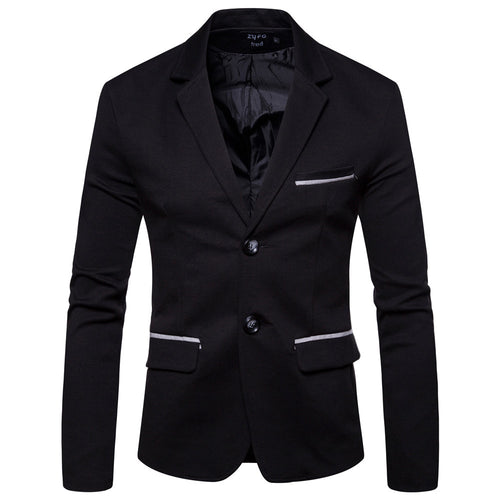 Casual Slim Fit Suit Jacket