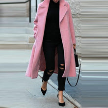 Load image into Gallery viewer, Women Long Overcoat Solid Color Coat