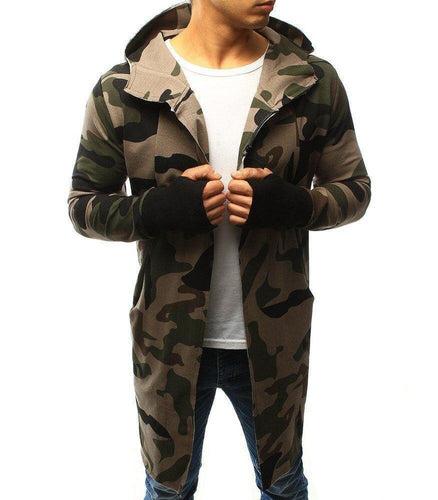 Fashion Camouflage Printed Slim Long Jacket