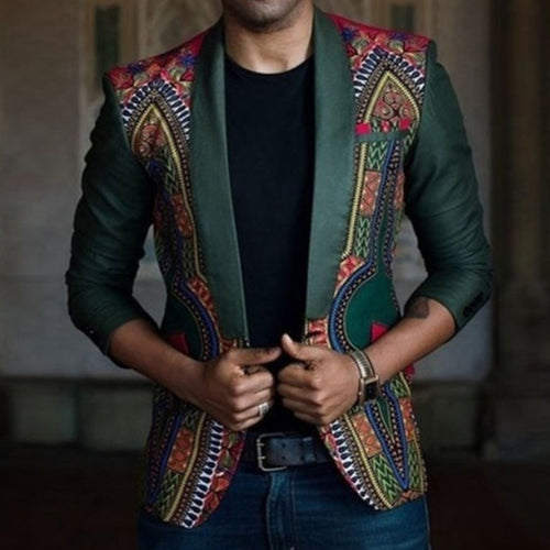 Men's Culture Style Floral Blazer