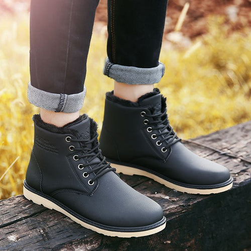 Fleece-Lined Ankle Boots