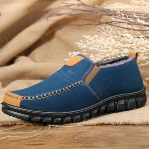 Warm Lining Slip On Casual Ankle Boots