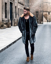 Load image into Gallery viewer, Winter Plain Faux Fur Plain Thicken Keep Warm Long Coat