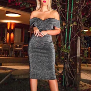 Tube Top Bag Hip Slim Sexy Dress