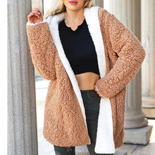 Load image into Gallery viewer, Plain Casual Loose Lamb Woolen Coat