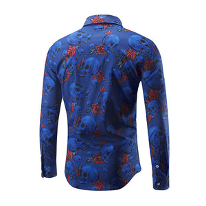 Prime Fashion Men's Shirt-Skull