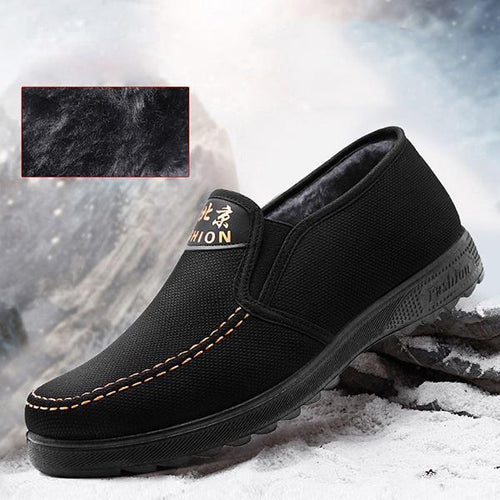 Men Old Peking Style Warm Lining Slip On Casual Shoes