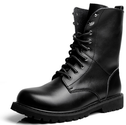British style trend men's high boots leather high boots Martin boots