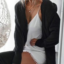 Load image into Gallery viewer, Plain Casual Hooded Cardigan