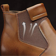 Load image into Gallery viewer, Men Cow Leather British Style Pointed Toe Boots