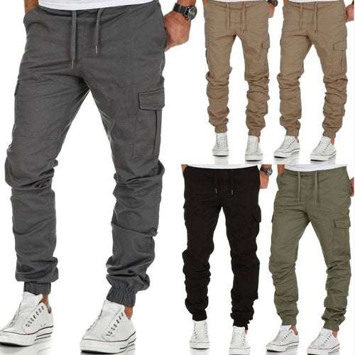Multi-pocket Woven Trousers Pants
