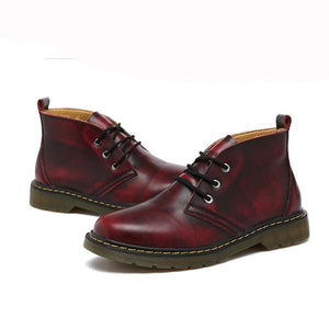 Large Size Casual Warm Cotton Round Head Martin Boots