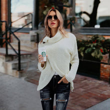 Load image into Gallery viewer, Fashion Round Neck Split Sweater