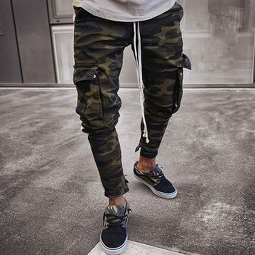 Camouflage Stretch Slim Pants